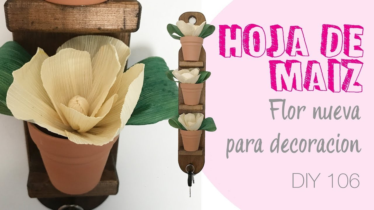 Hoja de maiz Flor Nueva para decoracion 106