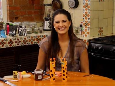 Jirafa con tubos de carton