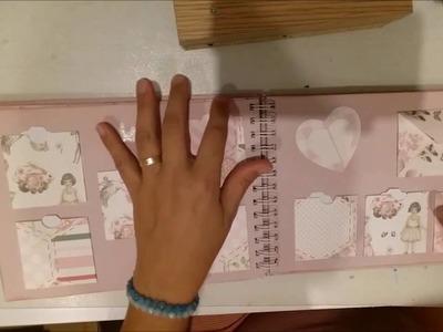 Libro de firmas y fotos bautizo Claudia
