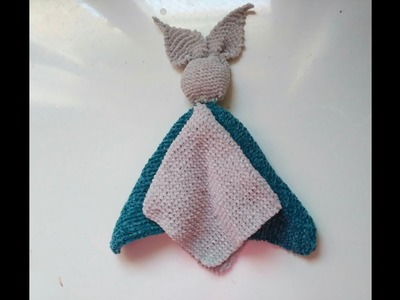 Manta de apego,  mantita conejo, como hacer dye