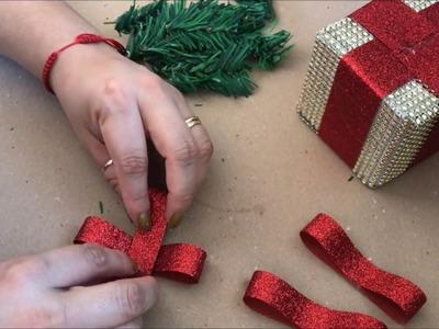 Manualidades Navideñas para el arbol de Navidad  (cajitas de regalos)