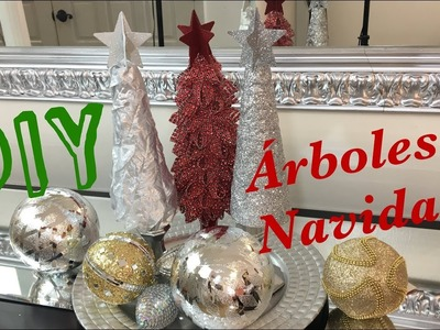 MINI ARBOLES  ALTERNATIVOS NAVIDEÑOS. DIY FACIL. DOLLAR TREE