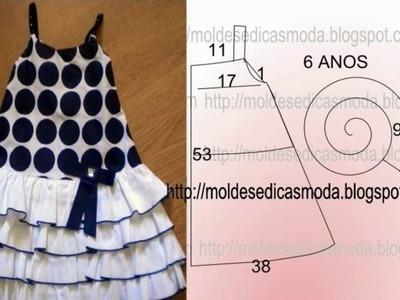 Patrones para hacer vestidos de niña