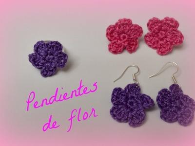 Pendientes de flor fáciles y rápidos || Crochet o ganchillo.