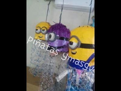 Piñata de minion para pelotas y globos
