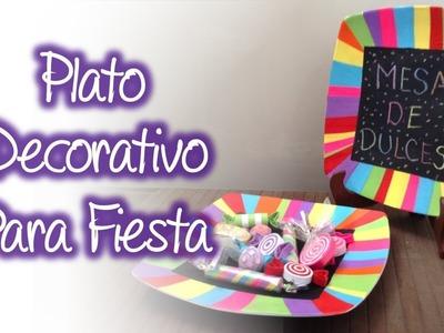 Plato decorativo para fiesta, Decorative dish for party
