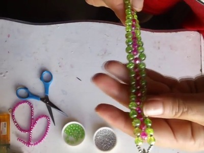 Pulsera fácil de perlas y rondeles paso a paso