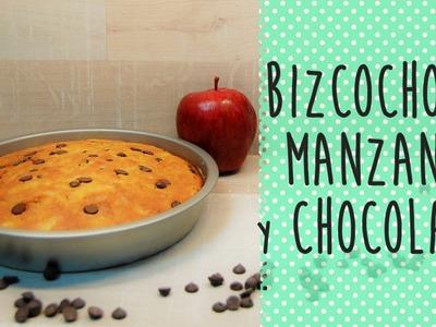 Receta de bizcocho de manzana y chocolate -  Fácil