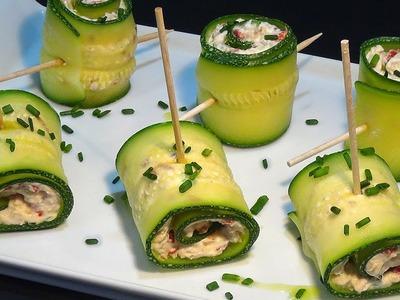 Receta Rollitos de calabacín con atún y queso crema - Recetas de cocina, paso a paso. Loli Domínguez