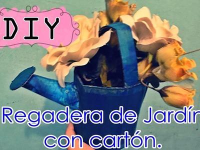 REGADERA DE JARDÍN CON CARTÓN ♥ Hágalo usted mismo (DIY)