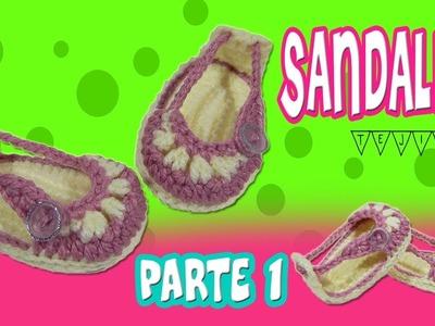 Sandalias o Huaraches tejidos  a crochet modelo verano | parte 1.2