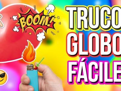 TRUCOS CON GLOBOS | Experimentos faciles con globos | Trucos caseros
