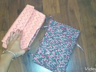 Tutorial bolso trapillo y Malla,  para aprender, como hacer dye