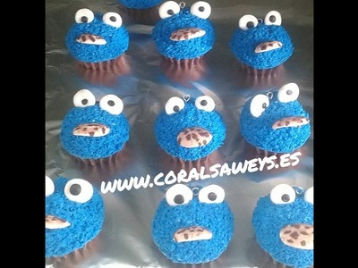 Tutorial Fimo, como hacer cupcakes del monstruo de las galletas