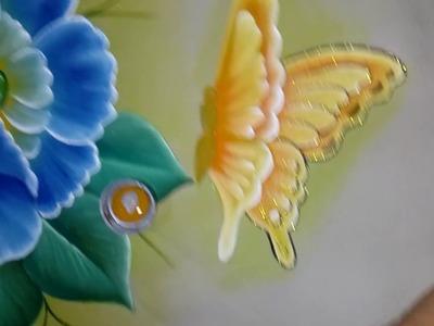 Tutorial pintando mariposa y amapola con Alfre Severo