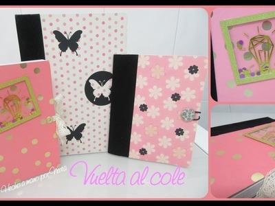 """Vuelta al cole -  Cuadernos alterados (+ Shaker """"card"""") (Scrapbooking)"""