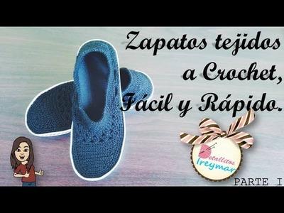 Zapatos Tejidos a Crochet, Fácil y Rápido PARTE I