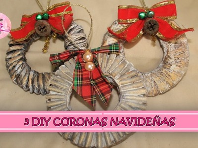 3 DIY CORONAS NAVIDEÑAS CON CARTON Y PAPEL red
