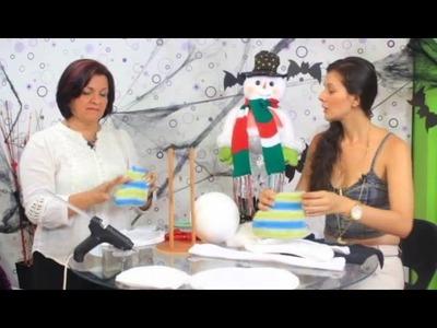 Aprenda hacer el muñeco de nieve para navidad