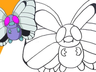Aprende a dibujar Butterfree (Pokémon) paso a paso | How to draw Butterfree (Pokémon)