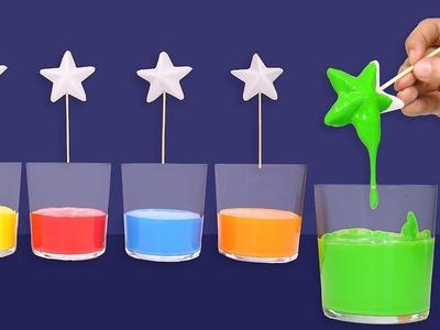 Aprende los colores para niños 1 ???? Piruletas de estrellas