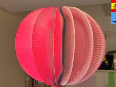Bola decorativa colgante | Con platos de papel