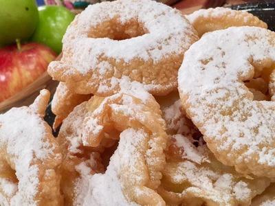Buñuelonas acarameladas de manzana, una mezlca entre buñuelo y dona