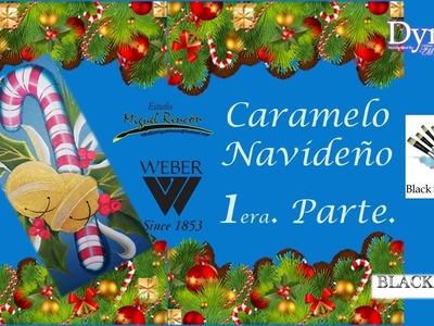 Caramelo Navideño ( Christmas Candy) en pintura con Miguel Rincón.