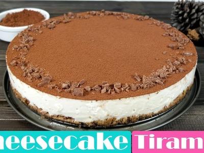 Cheesecake o tarta de queso al Tiramisú. Receta fácil sin horno.