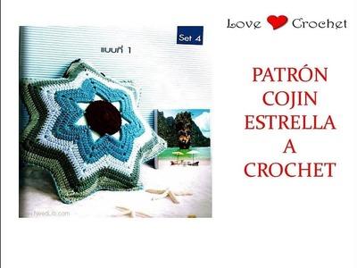 COJIN ESTRELLA a crochet.  patrón gratis