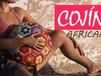 COJÍN FLORES AFRICANAS