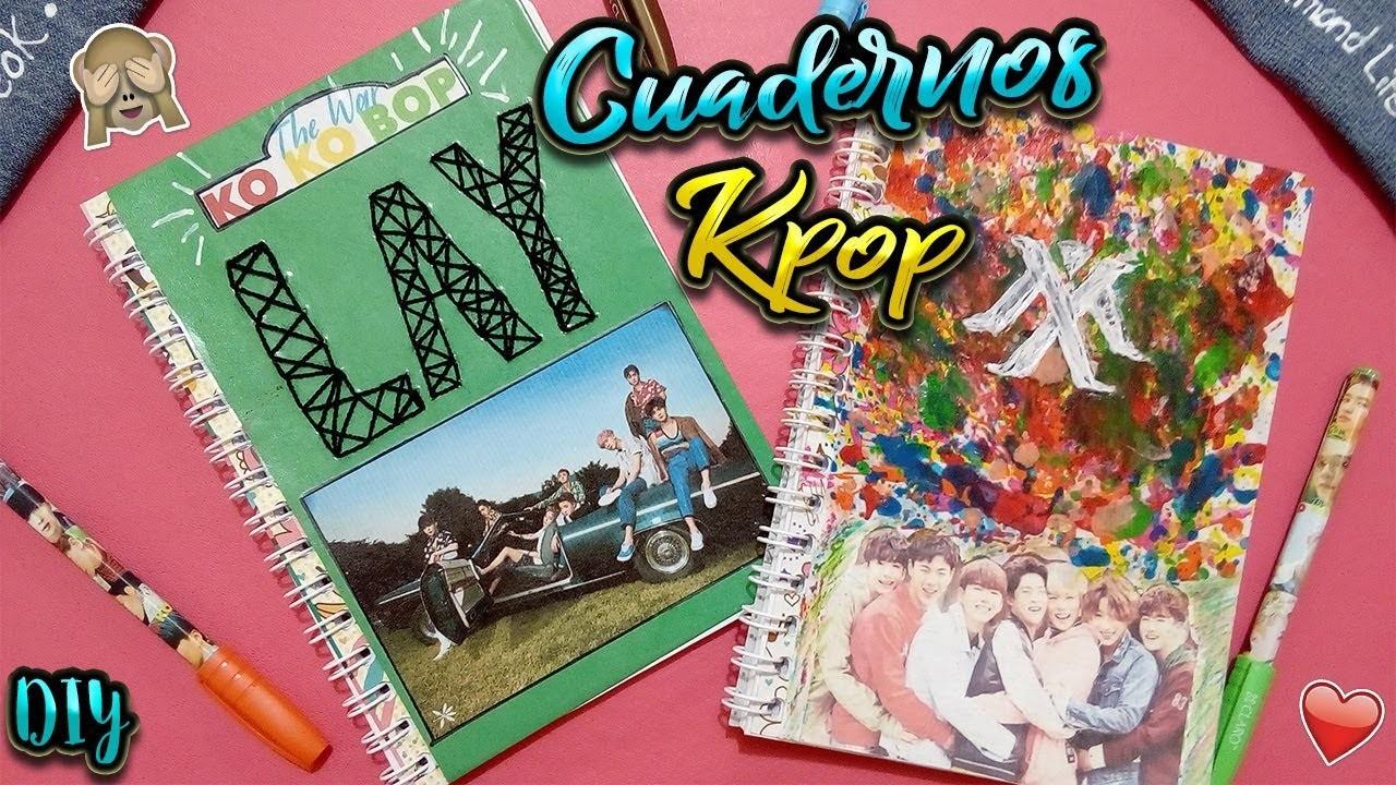 Como decorar tus cuadernos de KPOP! ❤[EXO & MONSTA X]????????