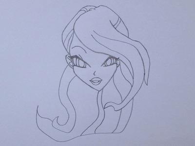 Cómo dibujar a Bloom de Winx Club