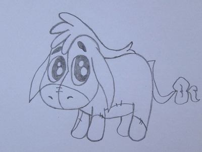 Cómo dibujar a Ígor (Eeyore) de Winnie the Pooh