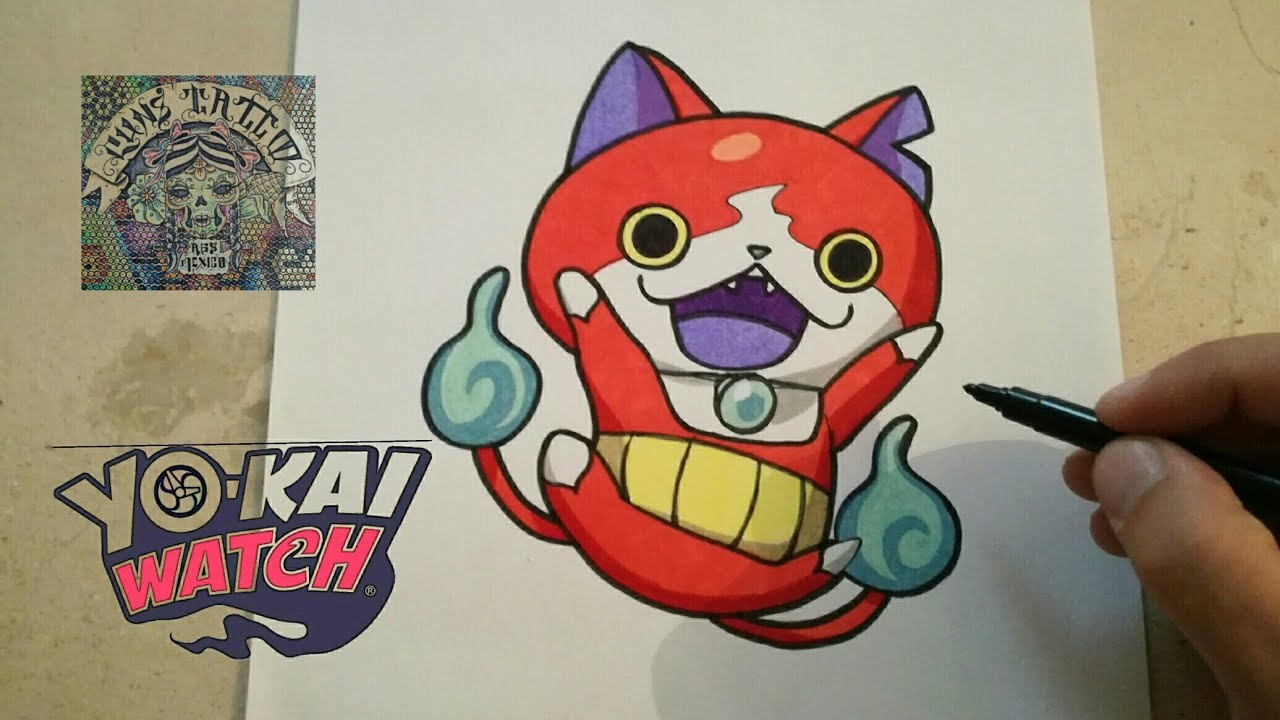 COMO DIBUJAR A JIBANYAN - YO KAI WATCH. how to draw jibanyan - yo kai watch