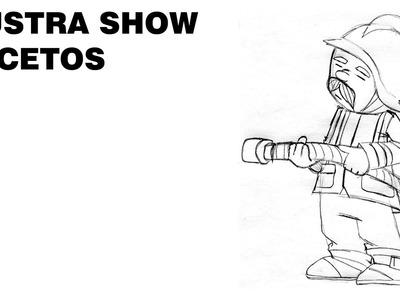 Cómo dibujar un BOMBERO sencillo Tutorial ILUSTRA SHOW