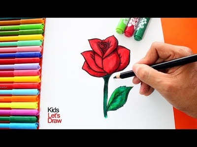 Cómo Dibujar una ROSA Paso a Paso | How to Draw a Rose - 6.10