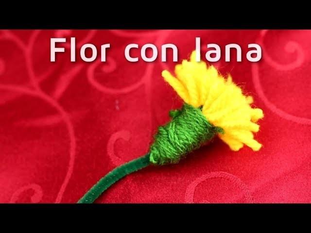 Cómo hacer flores artificiales con lana| facilisimo.com
