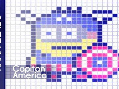 Como hacer minion capitan america con hama beads
