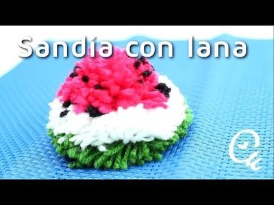 Cómo hacer pompones de lana en forma de sandía   facilisimo.com