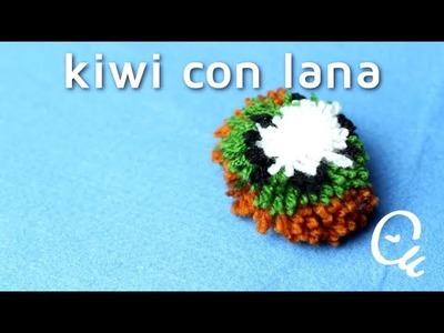 Cómo hacer pompones de lana en forma de kiwi | facilisimo.com