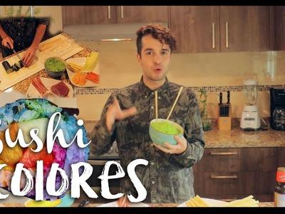 Cómo hacer SUSHI de COLORES (Rico, sano y dietético) - Nicolas de Llaca