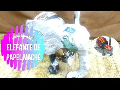 ???? Cómo hacer un Elefante ???? de papel maché | Colaboración con el taller de ire