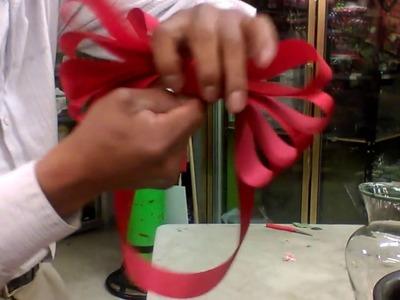 Como hacer un moño para flores facilísimo y paso a paso.