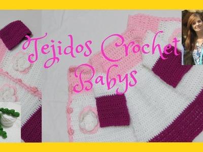 Como tejer abrigo en crochet.Para niños.  Sin costuras. 1ª parte