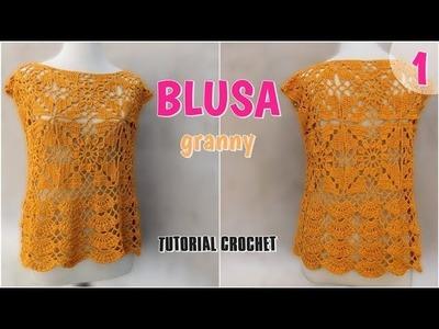 Como tejer una blusa en crochet o ganchillo (1.2)