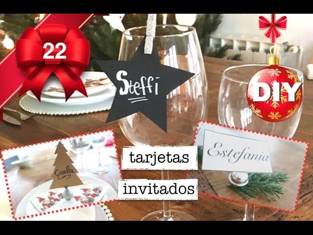 Decoración para la mesa de navidad | tarjetas invitados
