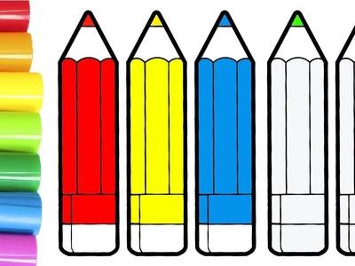Dibuja y Colorea ???? Aprende a colorear lápices de colores | Videos Educativos para Niños
