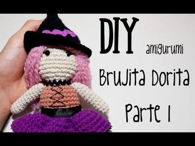 DIY Brujita Dorita Parte 1 amigurumi crochet.ganchillo (tutorial)