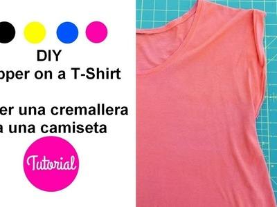 DIY Cómo poner una cremallera a una camiseta